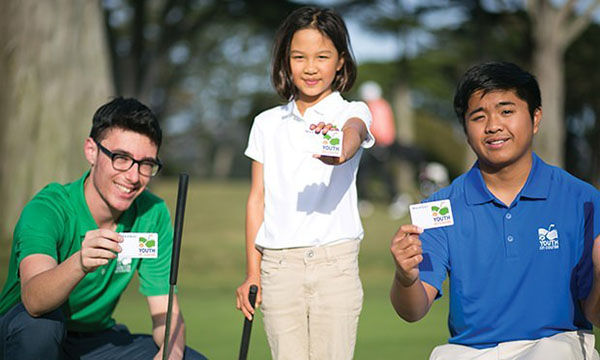 young golf players